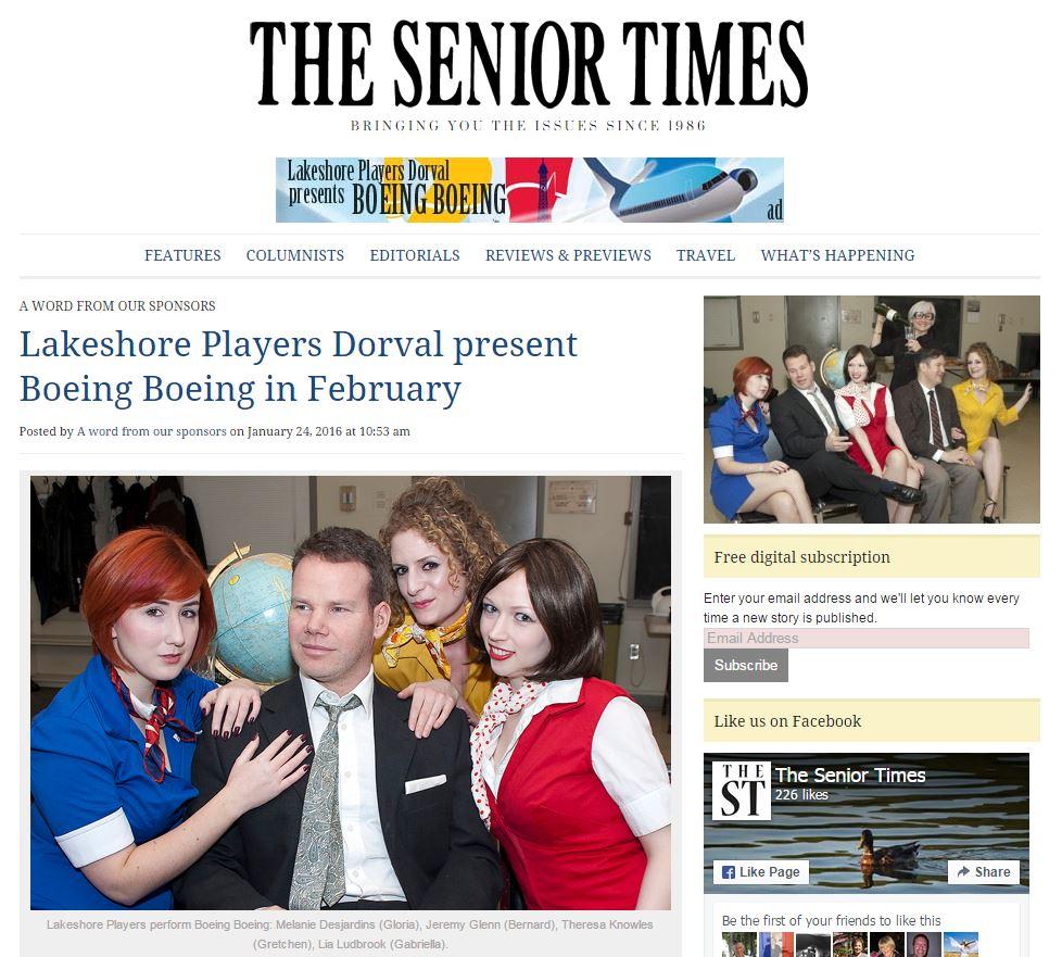 The Senior Times - 2016-01-24