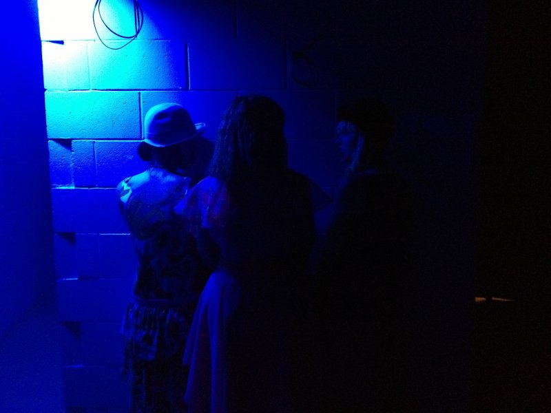 It is cold backstage!